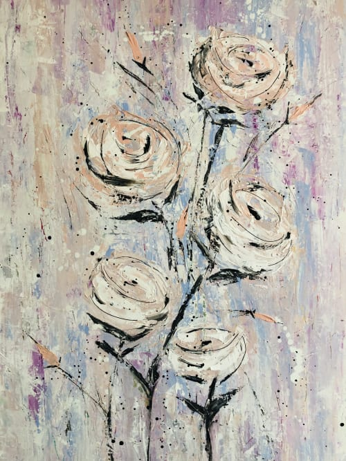 Paintings by Lori Burke seen at Private Residence, Fort Erie - Floral Fancy