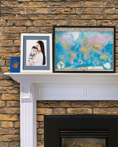 Paintings by Melissa Patel seen at Private Residence, Burlington - Mother & Child - oil painting