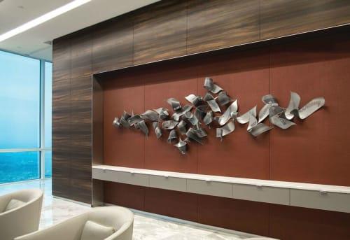 Sculptures by Jennifer Falck Linssen seen at PricewaterhouseCoopers, Houston - Accretion