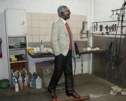 Public Sculptures by Barry Jackson Artist seen at The Cradle of Humankind Visitor Centre Maropeng, Mogale - Ahmed Kathrada