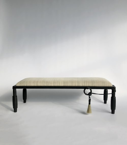 Benches & Ottomans by J.M. SZYMANSKI seen at Holiday House NYC, New York - Horse Hair Bench No. 3