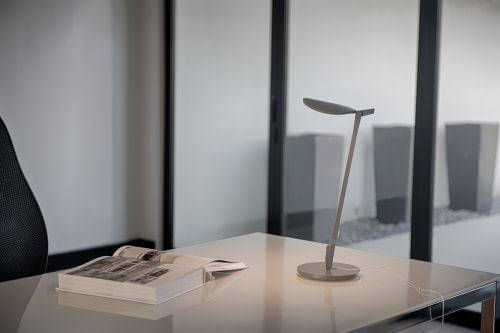 Lamps by Koncept seen at Private Residence, Monrovia - Splitty Desk Lamp