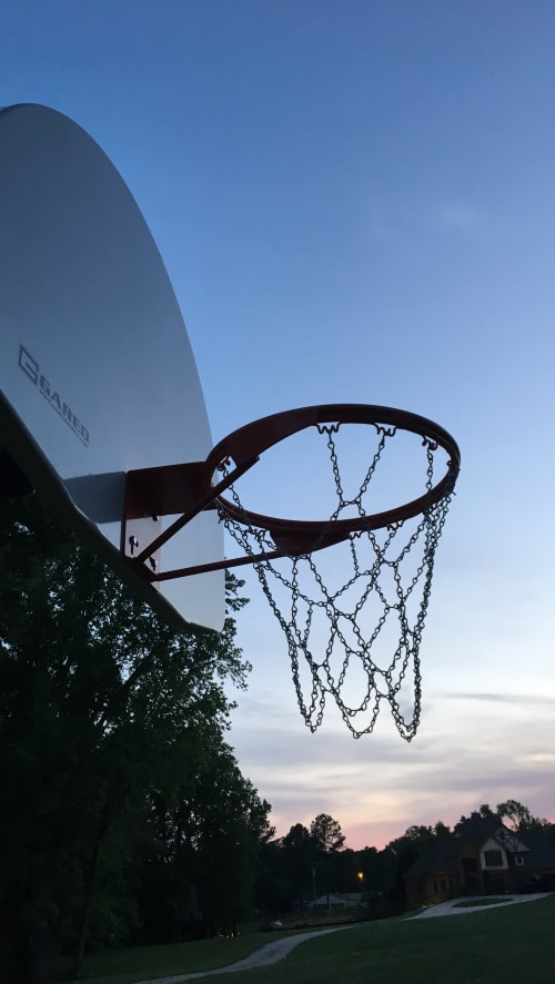Sculptures by Mark Americo Wentz seen at Private Residence, McDonough - Shaq's Hoop Tree