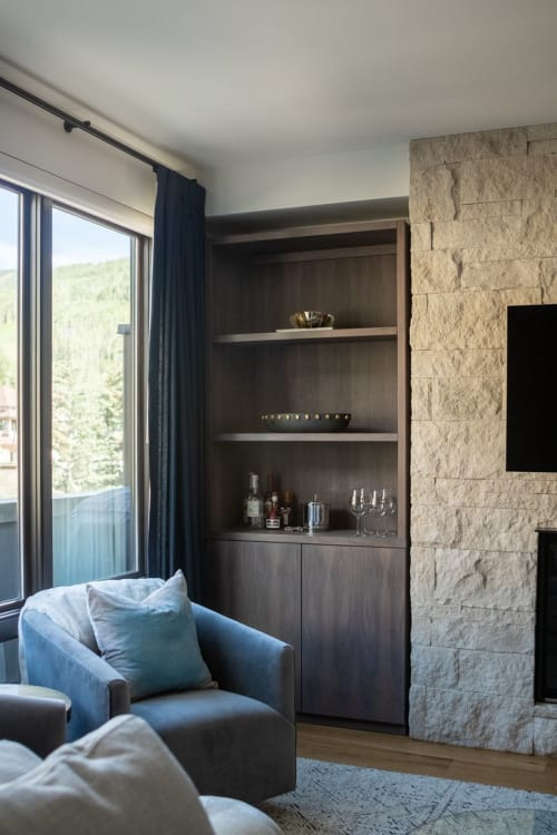 Furniture by Zachary Zorn Designs seen at Private Residence, Vail - Bar Storage
