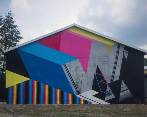 Street Murals by LAMKAT seen at Krakow Area, Kraków - GALERIA DYSTANS