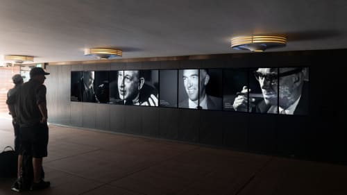 Murals by Sam Doust seen at Sydney Opera House Shop - Box Office, Sydney - Welcome Centre Digital Mural