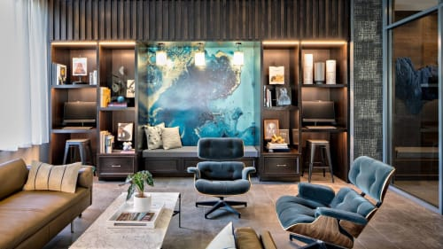 Murals by Kalisher seen at AC Hotel by Marriott Grand Rapids Downtown, Grand Rapids - Custom Wallcovering