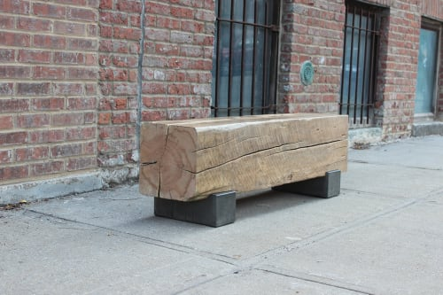 Benches & Ottomans by Andre Joyau seen at Brooklyn - Private Residence, Brooklyn - Beam Bench