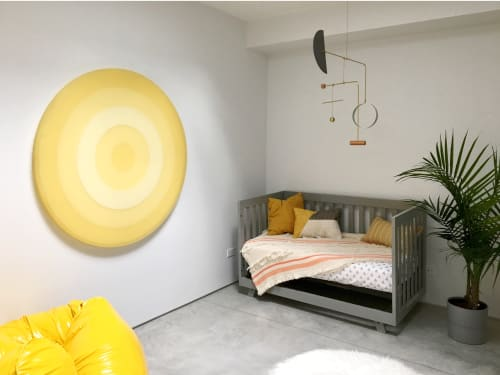 """Art & Wall Decor by Facture Studio at Private Residence, Brooklyn - 36"""" Scale Yellow"""