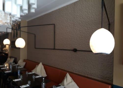 Pendants by Vilt aan Zee seen at Didong Indonesisch Restaurant, Den Haag - XEI 30 + black wool