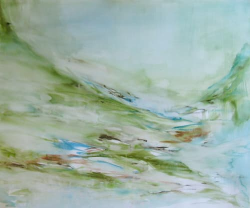 Paintings by Lesley Frenz seen at Private Residence, Seattle - Luscious VI
