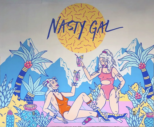 Murals by Kristen Liu Wong seen at Nasty Gal Inc, Los Angeles - Nasty Gal HQ Mural