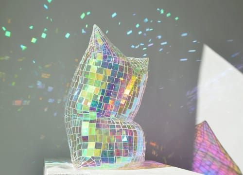 Sculptures by Colin Roberts Art seen at Private Residence, Los Angeles - Holograph Pillow