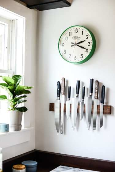 Furniture by Peg and Awl seen at Fare Isle's (Kaity's) Kitchen, Nantucket - Mess Hall Knife Rack