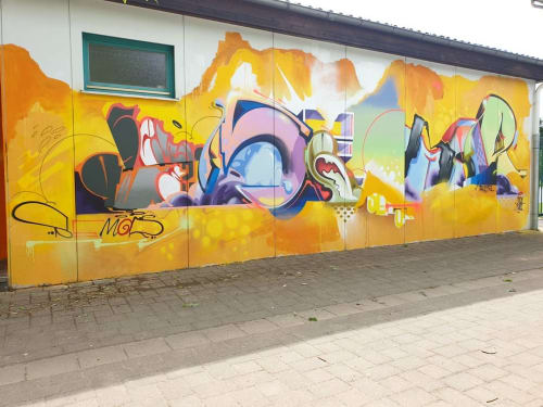 Murals by Semor the mad one seen at Integrierte Gesamtschule Hamm/Sieg, Hamm (Sieg) - Wall Mural