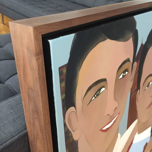Paintings by Gretchen Gammell seen at Private Residence, Bellevue - Family portrait