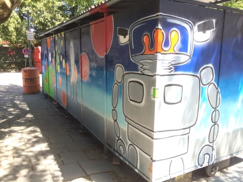 Street Murals by Johnny Botts at Grafinger Str. 6, München - Go Munich