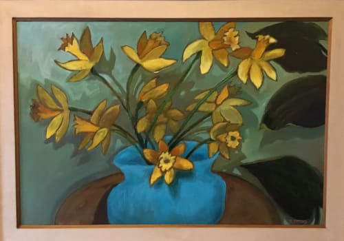 """Paintings by Pam Pappas seen at Private Residence, Manitou Springs - """"Daffodils"""""""