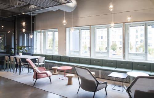 Tables by LOEHR seen at Helsinki Art Museum (HAM), Helsingfors - Umbra