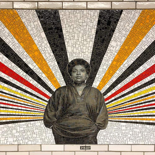 Public Mosaics by Rico Gatson seen at 167 Street Station, Bronx - Beacons