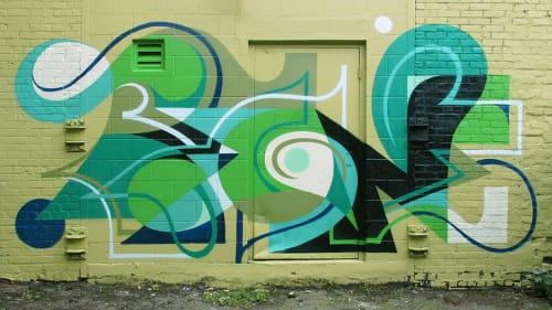 Murals by MATT W. MOORE seen at Boston, Boston - MWM Letterforms.