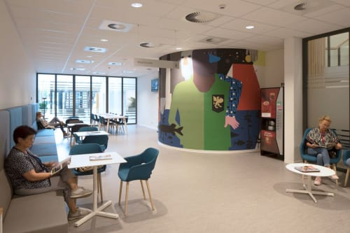 Murals by Anuli Croon seen at Central Military Hospital (CMH), Utrecht - CMH_AC_II 2019