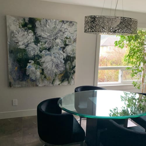 Paintings by Valérie Butters seen at Private Residence, Port Moody - Floral Painting