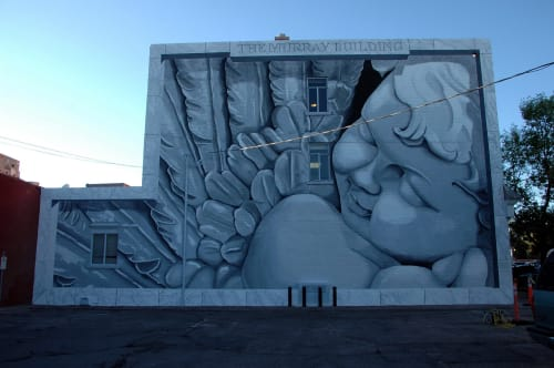 Murals by Murals & More seen at Cheyenne, Cheyenne - Cherub mural