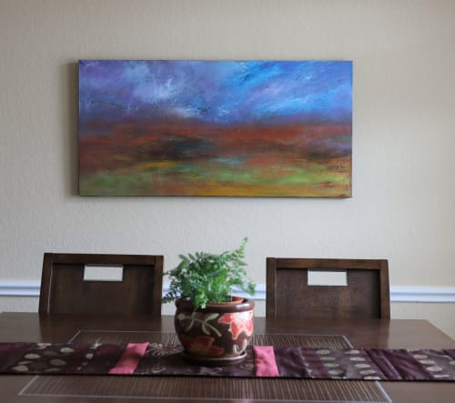 Paintings by Chaya Mallavaram seen at Private Residence - Impressionst landscape painting