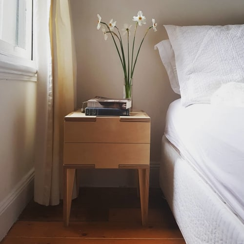 Tables by Ruben Gray seen at Private Residence - Brunswick VIC, Brunswick - Jigsaw Bedside Tables