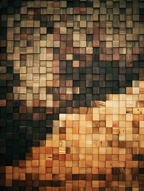 Public Mosaics by Brothers Dressler seen at lululemon, Toronto - Wood Mosaic
