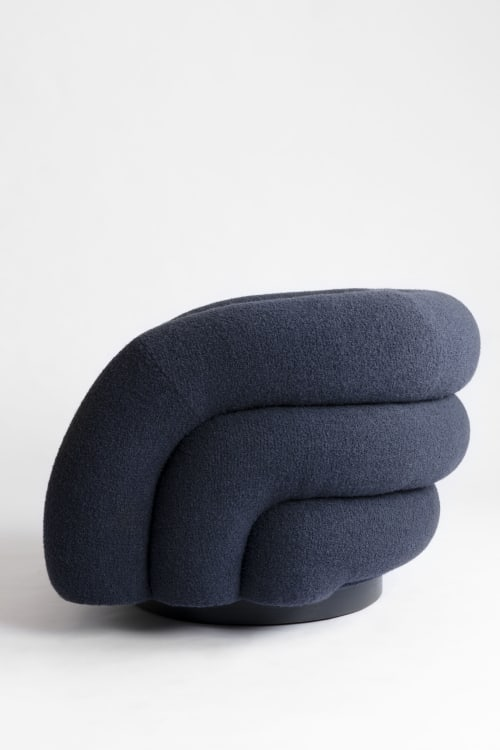 Chairs by Cuff Studio seen at Creator's Studio, Los Angeles - Swivel Channel Chair