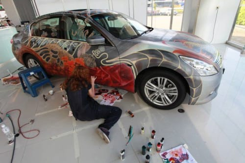 Murals by Heidi Taillefer seen at Private Residence, Taipei - Inifniti TW Anniversary Art Car