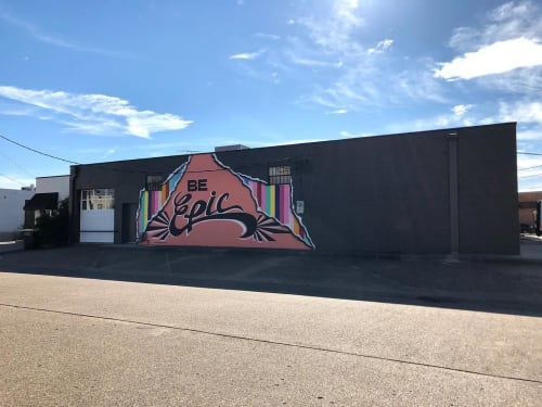 Street Murals by Chris Bingham seen at 1356 Chemical St, Dallas - Be Epic