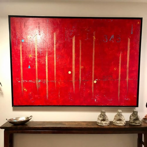 Paintings by Jonah Green seen at Private Residence, Sausalito - Abstract painting