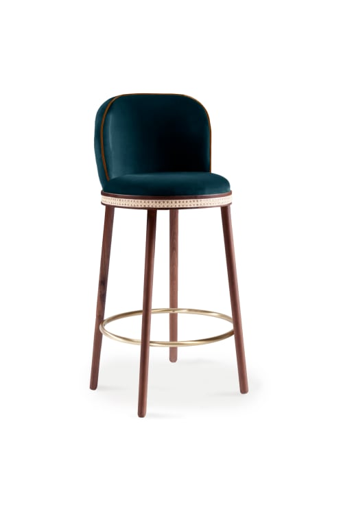 Chairs by Marie Burgos Design and Collection seen at Creator's Studio, New York - Alma Bar Stool