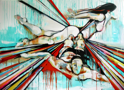 Paintings by Gretel Joffroy - Breathing Underwater