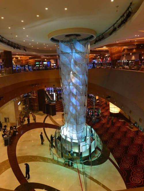 Sculptures by Kaiser / von Roenn Studio seen at City of Dreams Manila - Integrated Resort, Hotel & Casino, Parañaque - Sirens Waterfall