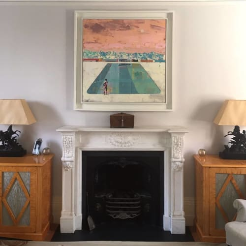 Paintings by Dan Parry-Jones seen at Private Residence, London - Swimming Pool Painting