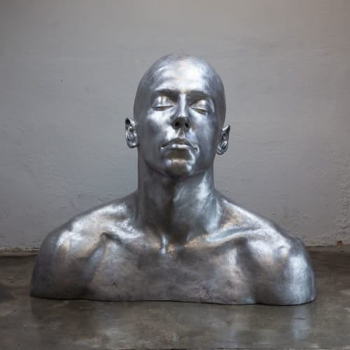 Public Sculptures by CODERCH&MALAVIA SCULPTORS seen at Private Residence, Amsterdam - The Swimmer Aluminum