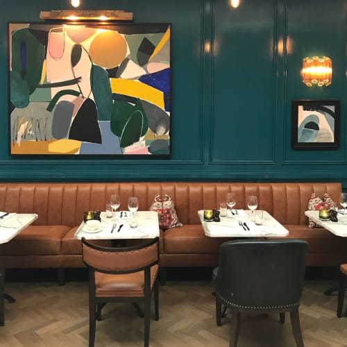 Paintings by Heather Chontos seen at River Lee Hotel, Cork - Abstract Painting