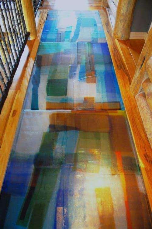 Art & Wall Decor by Walter Gordinier seen at Private Residence - Cast Glass Floor and Stairway