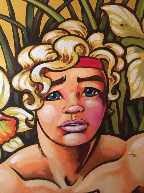 Murals by Dave Pop Art seen at Private Residence, London - Narcissus