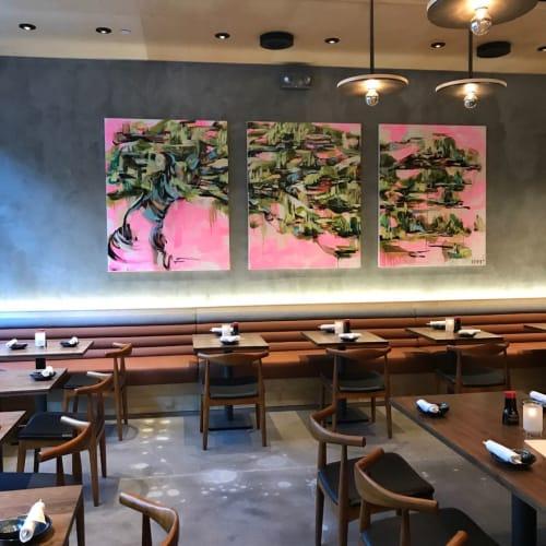 Paintings by Gretel Joffroy seen at OBON Sushi Bar Ramen, Scottsdale - Obonsai