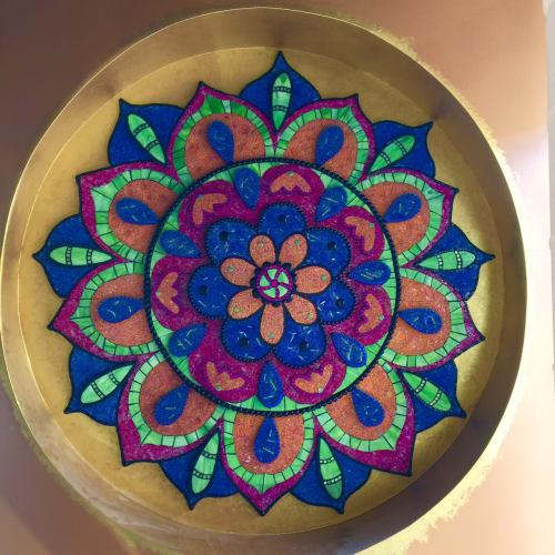 Public Mosaics by Maverick Mosaics seen at Richmond, Richmond - Mellow Mushroom Magic Mandala