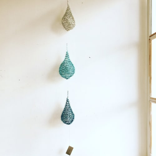 Sculptures by Deanna Gabiga seen at Deanna Gabiga Studio, Honolulu - Water Drops (set of 3)