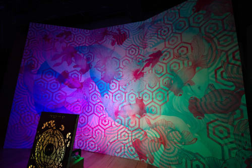 Murals by Aerica Raven Van Dorn seen at Austin, Austin - The Mesmer