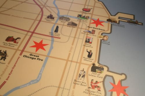 Art & Wall Decor by Joe Mills Illustration seen at Chicago History Museum, Chicago - Chicago History Museum Floor Map