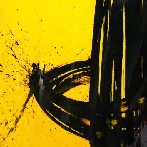 Paintings by Quim Bove Contemporary Art seen at Private Residence, Scottsdale - Yellow Rotation