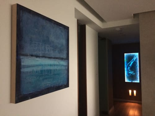 Art & Wall Decor by Andrea Bonfils at Private Residence, Miami - Commissions, mixed media and encaustic painting